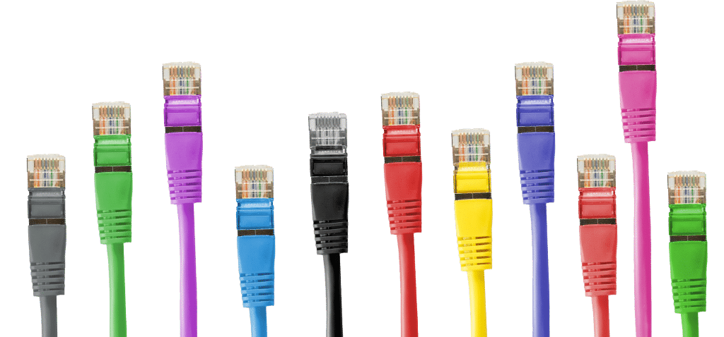 Coloured network cables
